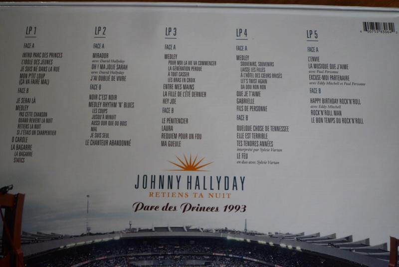 """Edition collector 5 LP """"parc des Princes 1993"""" édité par mercury P1590833"""
