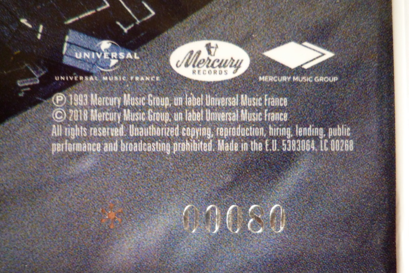 """Edition collector 5 LP """"parc des Princes 1993"""" édité par mercury P1590834"""