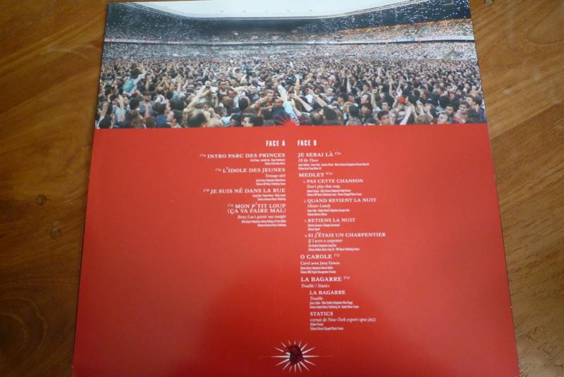 """Edition collector 5 LP """"parc des Princes 1993"""" édité par mercury P1590841"""