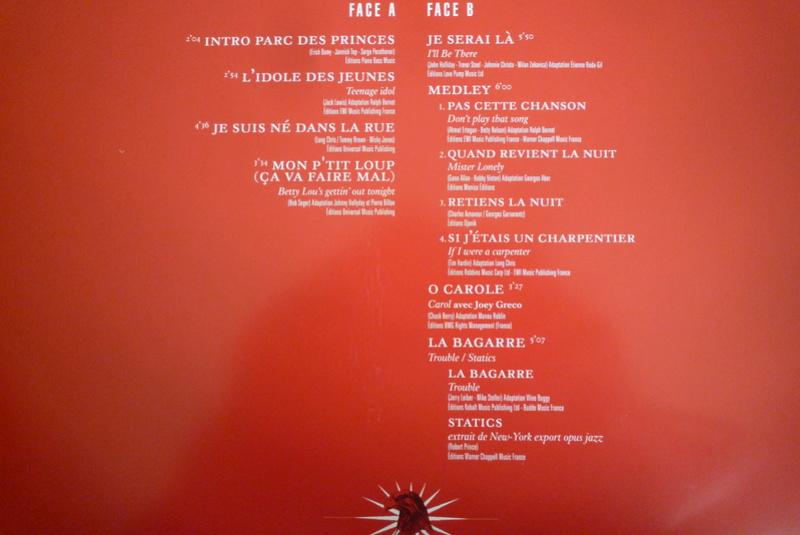 """Edition collector 5 LP """"parc des Princes 1993"""" édité par mercury P1590842"""