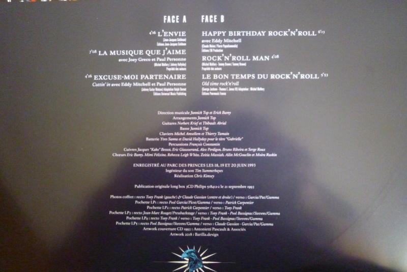"""Edition collector 5 LP """"parc des Princes 1993"""" édité par mercury P1590926"""