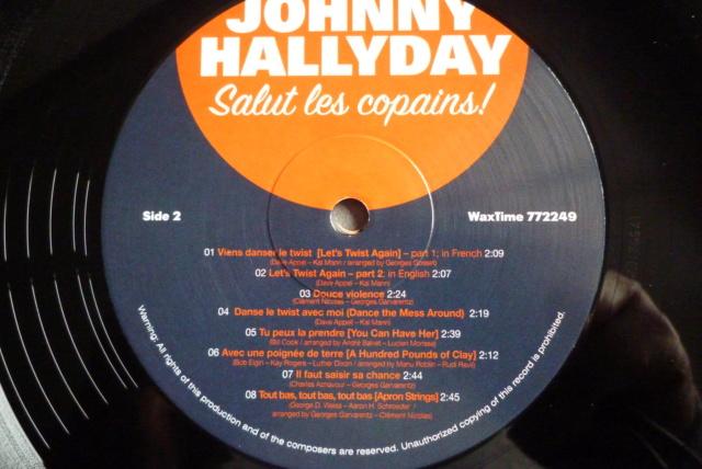"""33 tours """"salut les copains"""" édité par WAXTIME P1600473"""