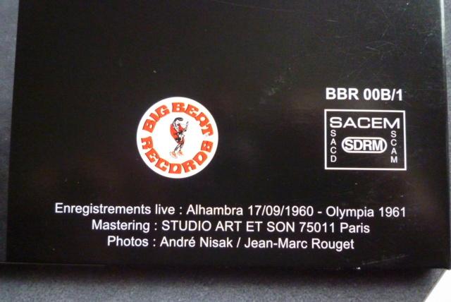 """25 cm, 33 tours et CD """"Johnny60 live/studio"""" édité par BIG BEAT RECORDS P1600737"""