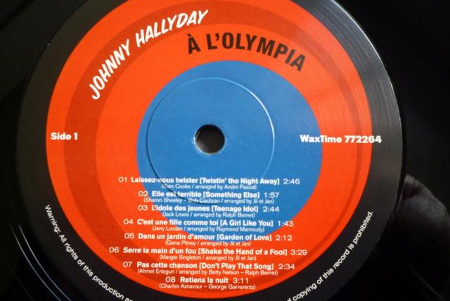 """33 tours """"Johnny Hallyday à l'Olympia"""" édité par WAXTIME P1600864"""