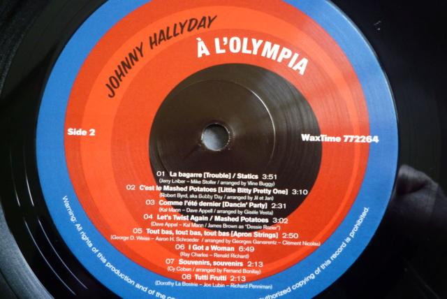 """33 tours """"Johnny Hallyday à l'Olympia"""" édité par WAXTIME P1600865"""