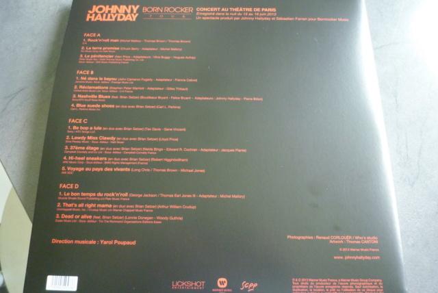 """double 33 tours """"born  rocker tour concert au théâtre de paris"""" édité par WARNER P1610030"""
