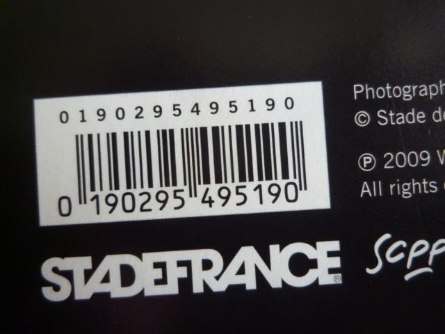 """quadruple vinyle """"stade de france 2009-tour 66"""" édité par WARNER P1610107"""