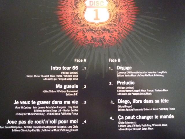 """quadruple vinyle """"stade de france 2009-tour 66"""" édité par WARNER P1610112"""