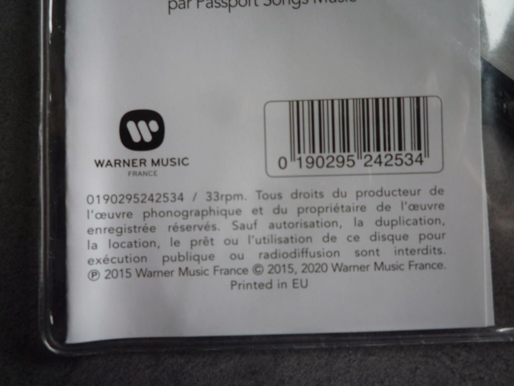 """picture disc 33 tours """"de l'amour"""" édité par Warner Music P1610158"""