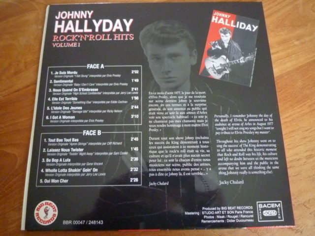 """25CM """"rock'n'roll hits, volume 1"""" édité par BIG BEAT RECORDS - second pressage - P1610334"""