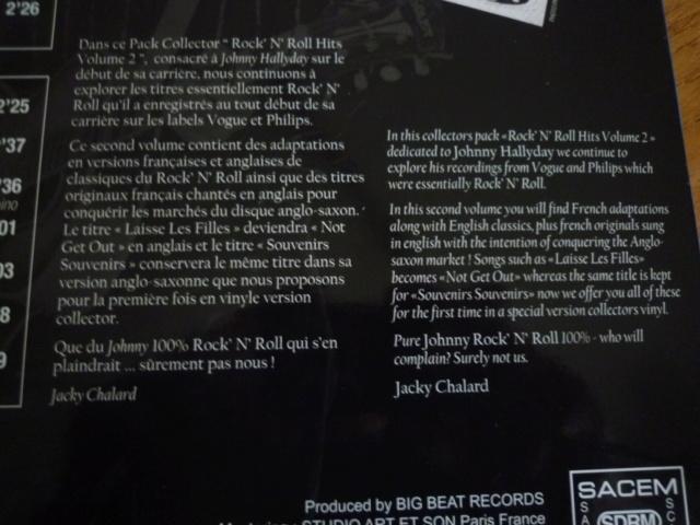 """25CM, """"rock'n'roll hits, volume 2 """" édité par BIG BEAT RECORDS - second pressage P1610350"""