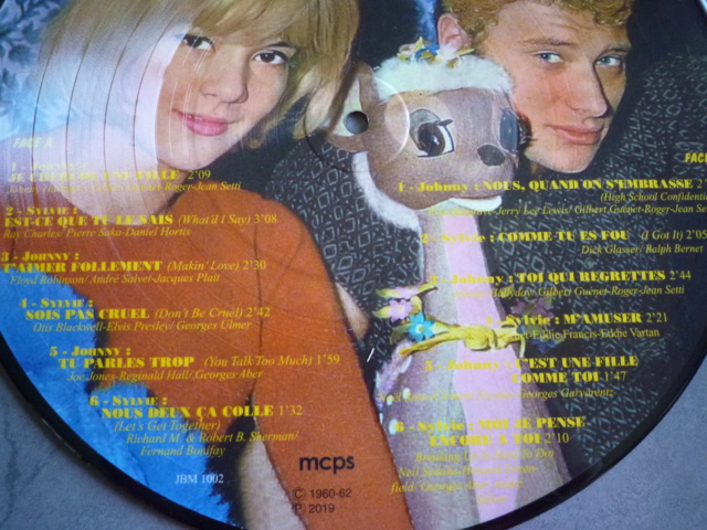 """Picture disc """"Johnny et Sylvie"""" édité par JBM P1610376"""