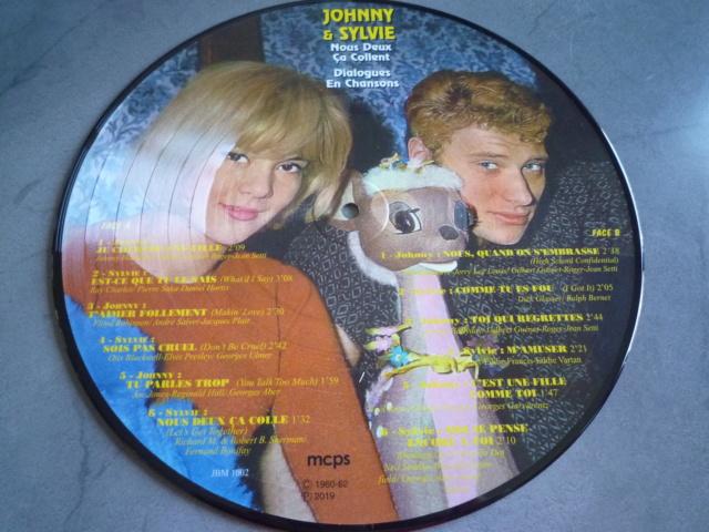 """Picture disc """"Johnny et Sylvie"""" édité par JBM P1610377"""