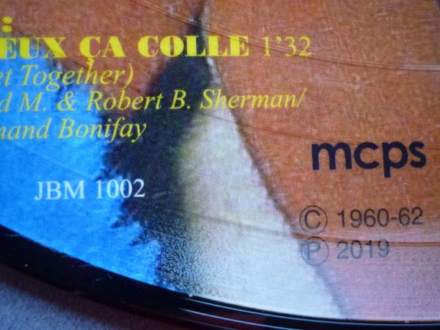 """Picture disc """"Johnny et Sylvie"""" édité par JBM P1610378"""