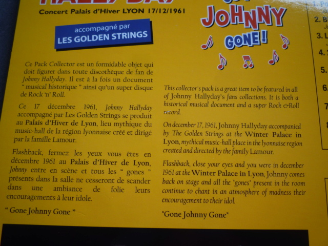 "25CM-33 tours ""Gone Johnny Gone"" édité par BIGBEATRECORDS P1610467"