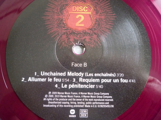 """quadruple vinyle """"stade de france 2009-tour 66"""" édité par WARNER P1610518"""