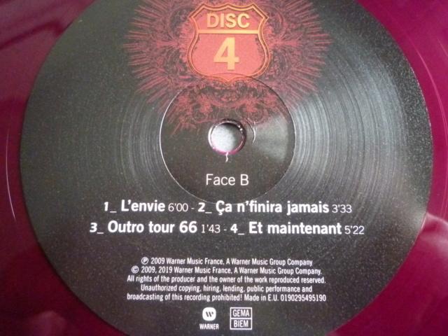 """quadruple vinyle """"stade de france 2009-tour 66"""" édité par WARNER P1610526"""