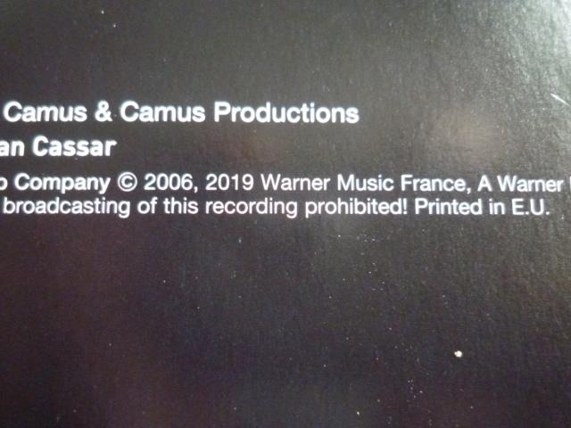 """triple vinyle """"palais des sports 2006-flashback tour"""" édité par WARNER P1610532"""