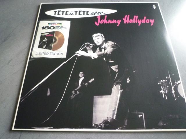 """33 tours """"tête à tête avec Johnny Hallyday"""" édité par WAXTIME P1610548"""