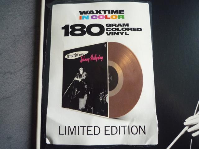 """33 tours """"tête à tête avec Johnny Hallyday"""" édité par WAXTIME P1610549"""