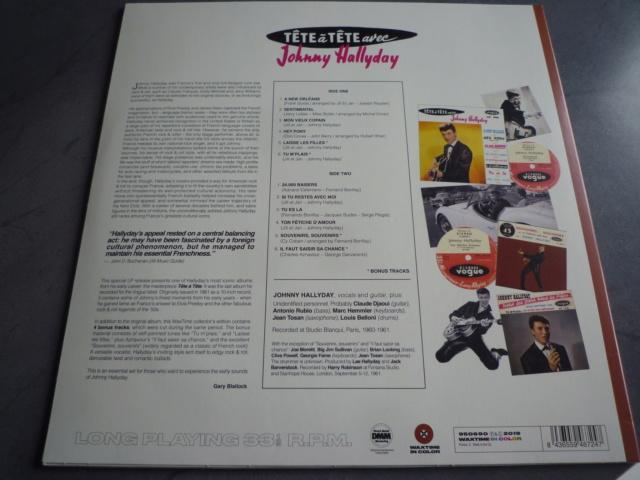 """33 tours """"tête à tête avec Johnny Hallyday"""" édité par WAXTIME P1610550"""