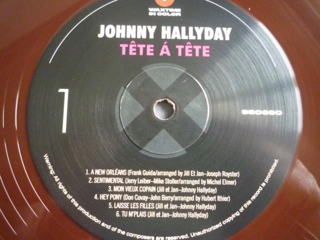 """33 tours """"tête à tête avec Johnny Hallyday"""" édité par WAXTIME P1610553"""