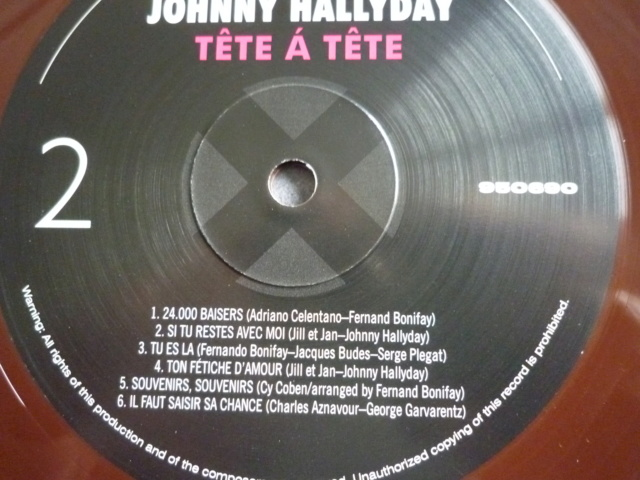 """33 tours """"tête à tête avec Johnny Hallyday"""" édité par WAXTIME P1610554"""