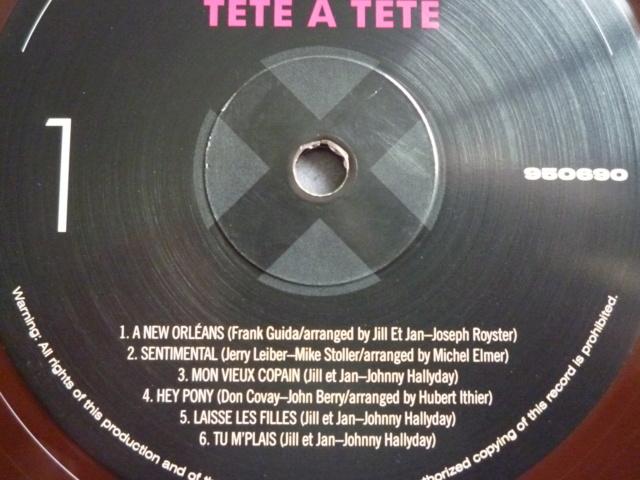 """33 tours """"tête à tête avec Johnny Hallyday"""" édité par WAXTIME P1610555"""
