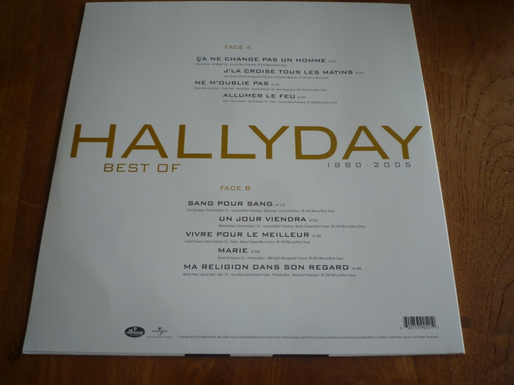 "33 tours ""HALLYDAY best of 1990-2005"" édité par Mercury P1610827"