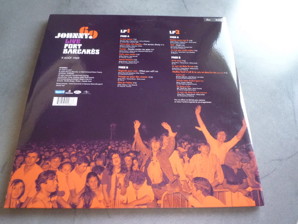 """double 33 tours """"Johnny 69, live Port Barcarès"""" édité par mercury P1610882"""