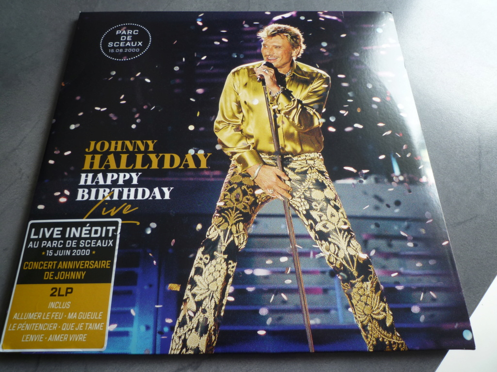"double 33 tours ""Johnny Hallyday, happy birthday"" édité par Mercury P1610912"