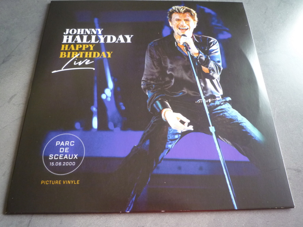 "picture disc, 33 tours ""Johnny HALLYDAY, happy birthday live"" édité par Mercury P1610955"