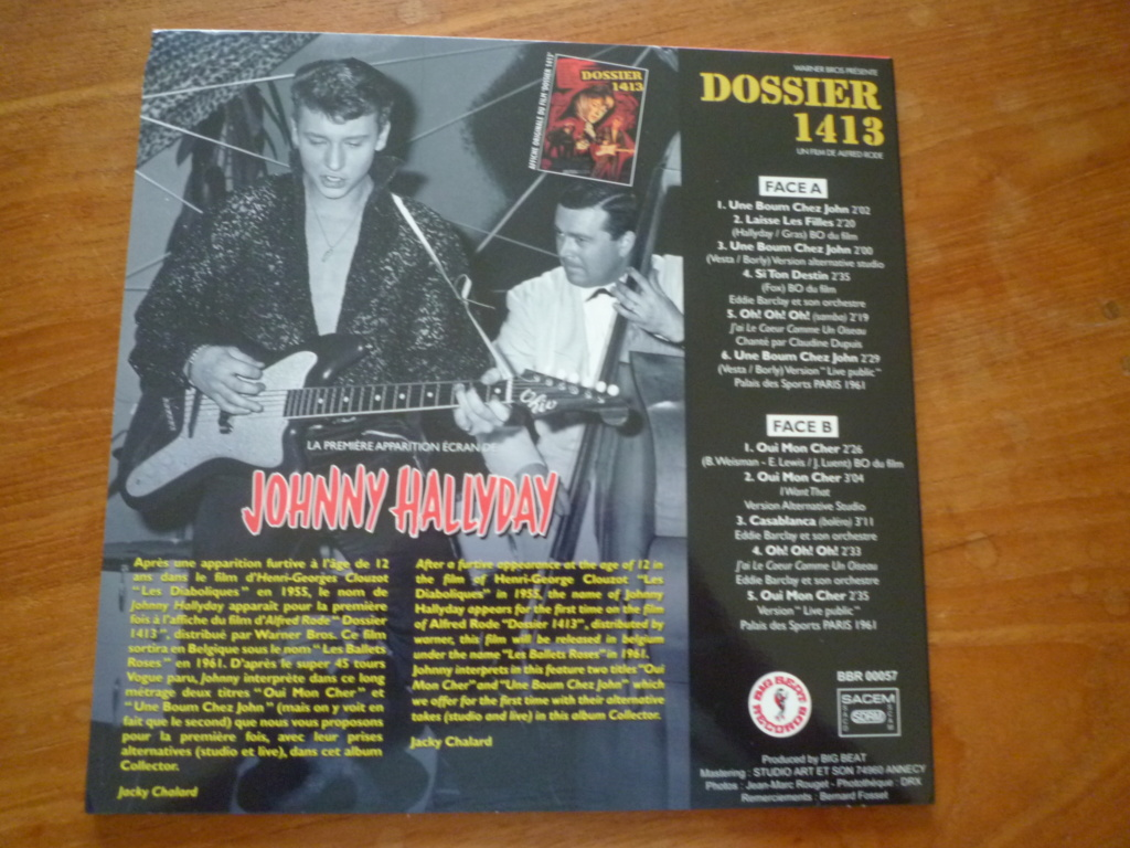"""25cm-33 tours """"dossier 1413"""" édité par BIG BEAT RECORDS P1610981"""