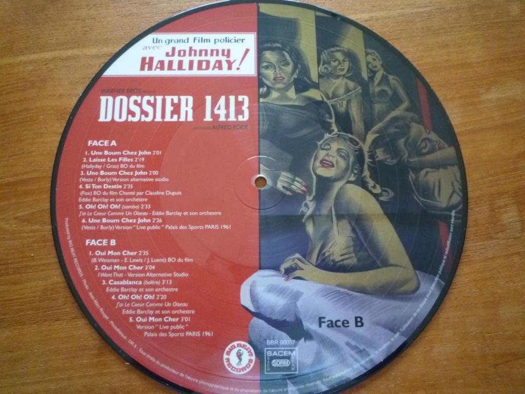 """25cm-33 tours """"dossier 1413"""" édité par BIG BEAT RECORDS P1610986"""