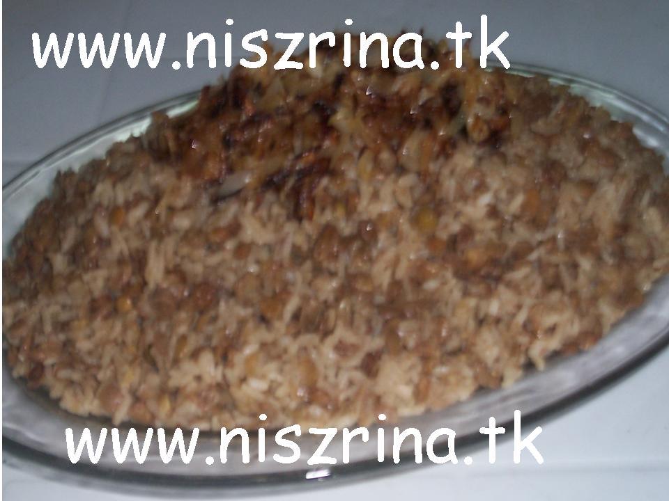 وصفة مجدرة Mgeadara sau linte cu orez Megada10