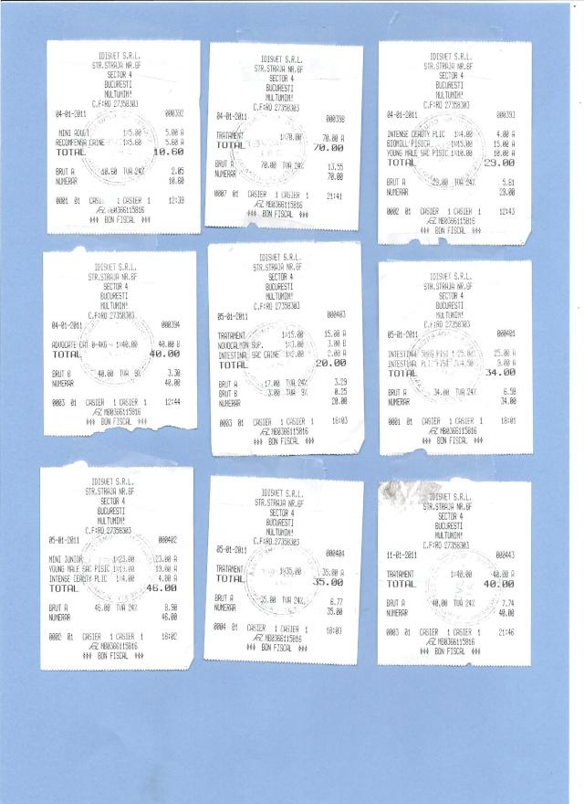 JUSTIFICATIFS DE VOS DONS (factures des dépenses) Factur19
