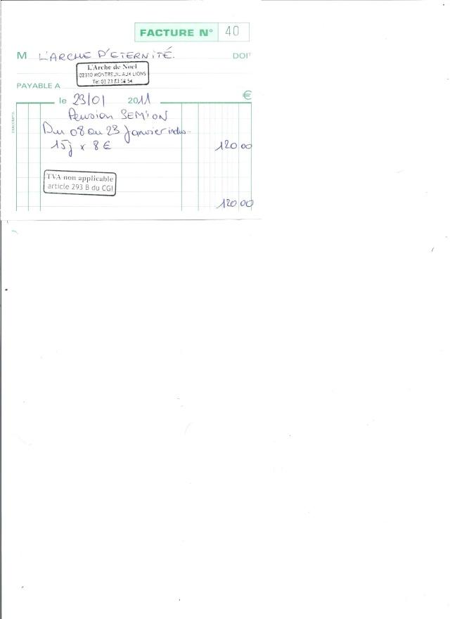 JUSTIFICATIFS DE VOS DONS (factures des dépenses) Factur24