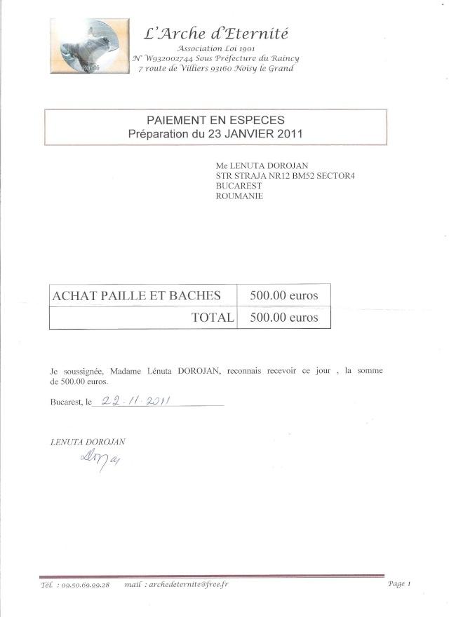 JUSTIFICATIFS DE VOS DONS (factures des dépenses) Recu_d10