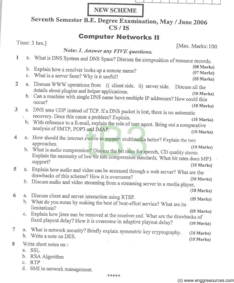 Previous Years Question Papers Required for 7 Sem CSE 5_10