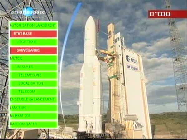 Ariane 5 ECA V196 / RASCOM-QAF 1R + Nilesat 201 (4 août 2010) - Page 3 Vlcsna12