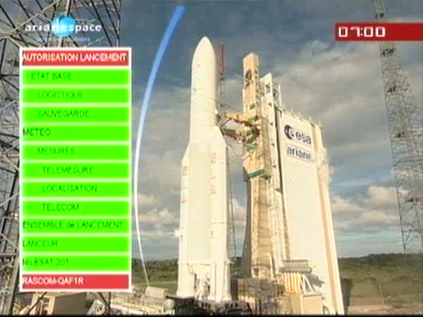 Ariane 5 ECA V196 / RASCOM-QAF 1R + Nilesat 201 (4 août 2010) - Page 4 Vlcsna14