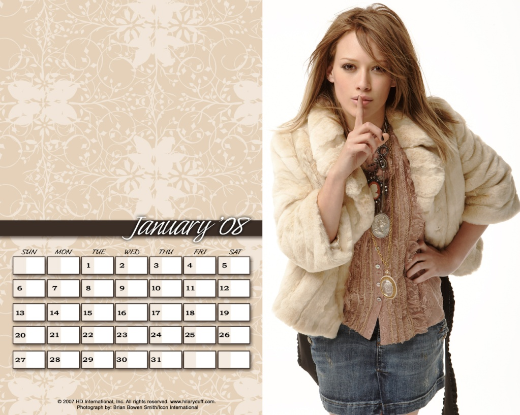 Календари на Хил Qnuari10
