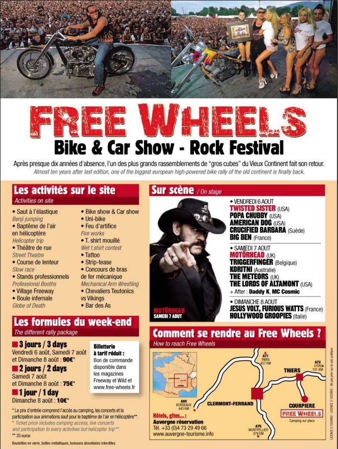 FREE WHEELS - Bike & Car Show - Rock Festival Fw00110
