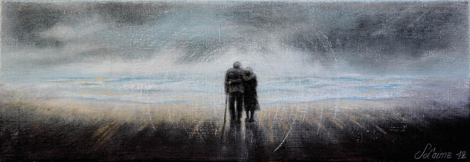 """""""Eternel Amour"""" (mixte pastels/acrylique sur lin) _ombre10"""