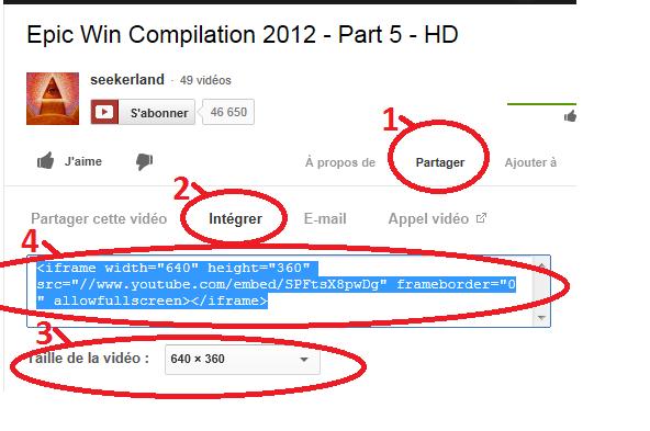 mettre une vidéo YouTube dans votre message Yout10
