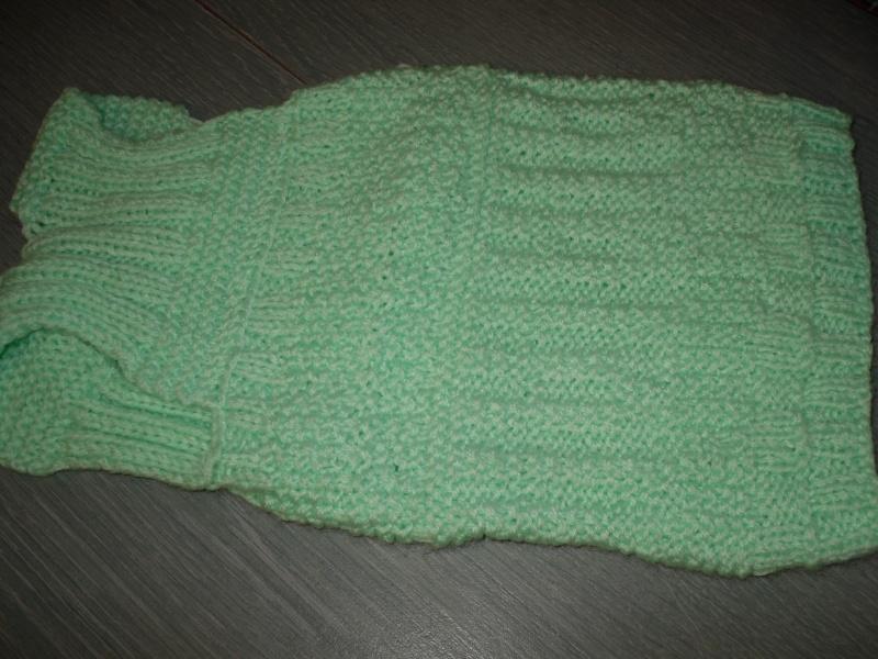 Manteau laine vert d'eau style débardeur. Sam_0016