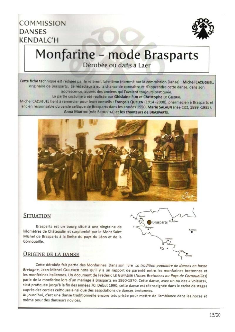 Fiches techniques des danses du Pays Brasparts-Saint Rivoal Montfa10