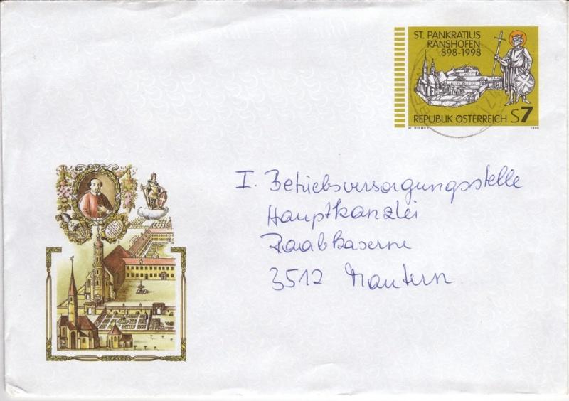 Amtliche Briefumschläge Republik Österreich, gelaufen 18_aus10