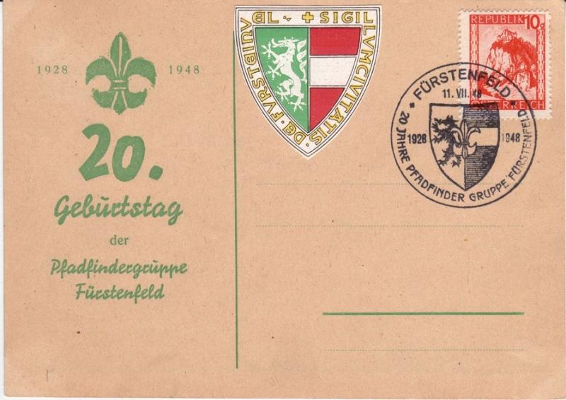 Sonderstempel Österreich, Thema Pfadfinder A00310