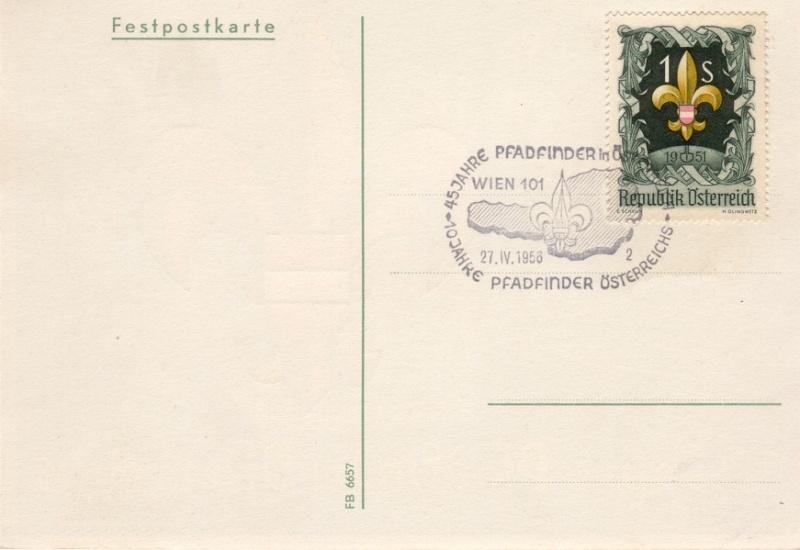 Sonderstempel Österreich, Thema Pfadfinder A00610